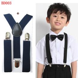 Wholesale BD003 Hot fashion colors adjustable baby Suspenders Y back clip children elastic Braces