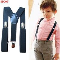 Wholesale BD003 New Fashion Baby suspenders colors Basic adjustable elastic kids braces