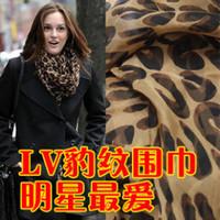 Wholesale Special Korean winter leopard scarf shawl dual Korean super long cotton chiffon scarf Ms