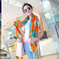 Wholesale Special half of Korean version of the new chain skull scarf winter warm long oversized cotton shawl female