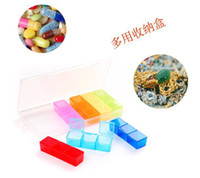 Pill Cases & Splitters TQ TQ 7 colorful 21 Cell Box Weekly Pill Box Medicine Tablet jewelry Organizer Storage Dispenser Case set