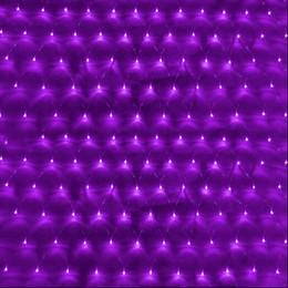 Promotion rgb led net Stock américain 3mx2m 6W LED Net Meshwork Chaîne Lumières de Noël Éclairage LED Cordes lumineuses pour décoration Décoration de fête Noël Lumière éclair CE RoHs