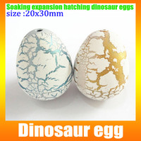 Wholesale small dinosaur egg cm Dinosaur egg water expansion hatched dinosaur eggs hatching eggs novelty Commodity box