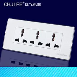 Wholesale Jin Fei Electric genuine abalone socket socket wall switch socket F6K series of three multi purpose