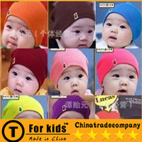Wholesale Blue Crochet Cap Man Head Cap Han Edition BAPE Hedge Wildly Popular Children s Hat Baby Hats