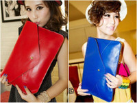 Day Clutches Fashion Women Wholesale-New arrival 2013 vintage envelope bag Clutch evening Bags candy colors cheap red women's hangbags Fashion hot bags Free shipping