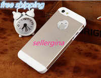 """For Apple iPhone Metal  Wholesale-"""" Factory direct """"phone case 4g 5g special for IPHONE5 metal shell ultrathin metal phone shell colored cheap-Free Shipping"""