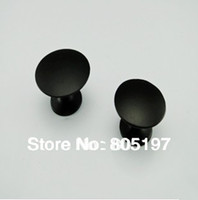 Wholesale Single hole Furniture knobs Cabinet handle Black Small Size