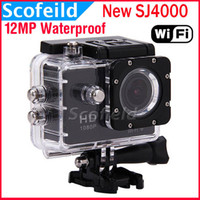 Wholesale New SJ4000 WiFi Waterproof Action HD Camera Mini Camcorder Gopro style MP P H Inch Degree Wide Angle CAR DVR