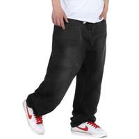 Men Jeans Mid-Rise famous designer brands high quality harem black jeans,large size jeans winter skateboard hip hop jeans denim trousers loose