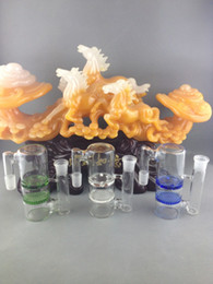 Wholesale Thick Glass ashcatcher high quality mm different color honeycomb and turbine perc glass ash catcher free shiping