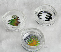 Wholesale KP06 oil ring ashtray glass ashtray dish OIL RIG DISH DABBER