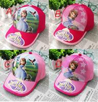 Wholesale Frozen Sofia princess fashion snapback hats high quality polo hats men s and women baseball cap cotton
