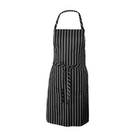 kitchen ware - Kitchen Baking Ware Zebra Chalk Stripes Bib Apron with Pockets