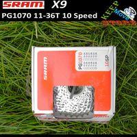 Cheap X5x7x9 MTB freewheel SRAM X9 PG1070 11-36T cassettes 10 speed mountain bike freewheel sram pg1070, bicycle freewheel colorbox