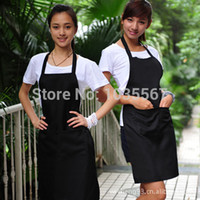 Wholesale New Advertising beauty hairdresser aprons cafe aprons for men and women work apron black stain manufacturer