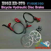 Wholesale MTB Hydraulic Disc Brake Set mm Bicycle Oil Press Disc Brake Grounp Front Rear Hydraulic Disc Brake with Rotor and Bolts BH Red