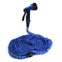Watering Cans YK01302 75 ft gun suit 1setBlue75FT Expandable Flexible Garden Water Pocket Hose With Spray Good Nozzle Head