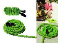 Wholesale 1setGreen75FT Expandable Flexible Garden Water Pocket Hose With Spray Good Nozzle Head