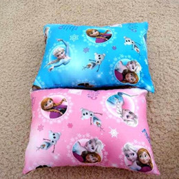 Wholesale Frozen small pillow desk nap small car back children mat cartoon elsa anna princess picture pillows cushions
