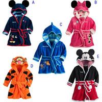 Unisex Spring/Autumn 90-100-110-120-130 2014 Children's Pajamas robe kids Micky minnie mouse Bathrobes Baby homewear Boys girls Cartoon Home wear