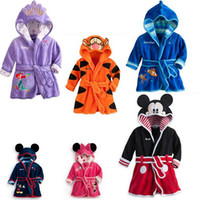 Wholesale 2014 New Boys And Girls Cartoon Robes Children Pajamas Mlicky Printed Baby Home Wear