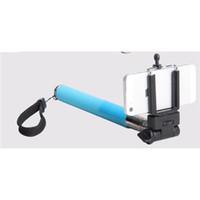 Wholesale Blue Camera Selfie Monopod Camera Tripod Extendable Handheld Cellphone Holder For iPhone Samsung HTC Selfie Assistant Colors