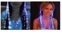 Wholesale christmas Led Hair Flash light Braid Hair Decoration Fiber Luminous Braid for Halloween Christmas Party Holiday Colorful