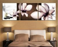 Cheap Modern 3 pcs flowert art wall painting prints on canvas Home Decoration canvas art painting