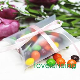 Wholesale 100 Pieces x7x2 cm Anti Scratch Matte Pillow Favor Box Gift Box For Baby Shower Wedding Favors Boxes Supplies