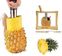 Wholesale One Stainless Steel Pineapple Corer peeler Fruit Kitchen Easy Tool Slicers Peeler Parer Cutter