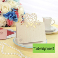 Wholesale New Arrivals Tracking Number Ivory Color Laser Cut Place Cards Wedding Name Cards For Wedding Party Table Decoration