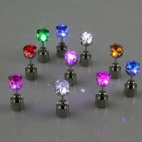 led dancing light - HOT Pair LED Glowing Light Up Earrings Ear Studs Men Women Party Club Dance Gift