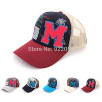 Ball Cap Red Baseball Caps Fashion Outdoor Mesh Letter M Monogram Snapback Cute Baseball Cap Men And Women Free Shipping Wholesale