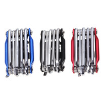 Wrench Screwdriver Chain Cutter bicycle repair tool kit - New in1 Mountain Cycling Bicycle Tool Set Bike Multi Repair Tool Kit Wrench Screwdriver Chain Cutter Black Red Blue H11346