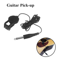 Wholesale Professional Compact and Light weight Black Clip on Pickup Pick up for Guitar with quot Jack M Cable Cherub WCP G I381