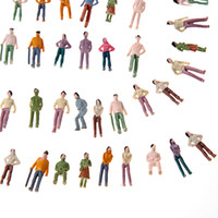 Wholesale Plastic Crafts HO Scale Mix Painted Model Train Park Street Passenger Person Figures Painted Model People T175