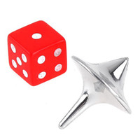5-7 Years stainless - Inception Stainless Steel Spinning Top Totem and red dice Spinning Top Toys Metal from the Inception Movie Kids T102
