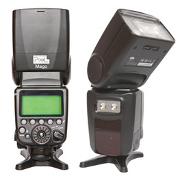 Wholesale New Pixel Mago Camera Flash Speedlite Master High Speed Sync TTL GN65 for Canon D1345