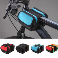 bicycle tubes - Roswheel Cycling Bag Mountain Road MTB Bike Bicycle Front Top Tube Frame Pannier Double Bag Pouch L H11636