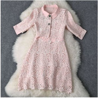 Wholesale 2014 New Arrival Autumn Sweet Girl Style Japanese Style Hollow out Dress Preppy Style Dresses With Mini Coat