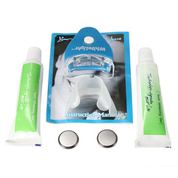 Wholesale New LED White Light Teeth Whitening Tooth Gel Whitener Health Oral Care Toothpaste Kit For Personal Dental Healthy