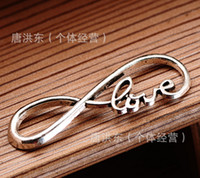 Wholesale DIY Silver Plated of love bracelet accessories g manufacturers selling Vintage alloy jewelry accessories