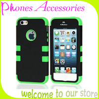 For Apple iPhone Plastic White 3 in 1 Phone cases for Apple Brand Hybrid Robot Mobile Phone Case for iPhone 5 5s Case With OPP Package 50PCS Per Lot