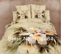 100% Cotton Hotal Adults 2013 New Spring oil painting cotton bedspread,500TC 100% Fashion floral bedding, size Full Queen, EMS Free Shipping