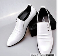 men dress shoes white leather - Fashion derss men s Shoes balck or white wedding shoes bridegroom Shoes men leather shoes business shoes for