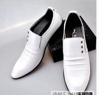 Men balck dress - Fashion derss men s Shoes balck or white wedding shoes bridegroom Shoes men leather shoes business shoes for