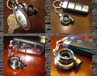 Wholesale Colorful Turbo Keychain Spinning Turbo Turbine Turbocharger Keychain Key Chain Ring Keyring Keyfob Keyrings
