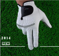 gloves golf gloves leather - Genuine Leather Golf Gloves Soft Breathable Pure Sheepskin Men s Left Right Hand Golf Gloves Golf accessories price for pc