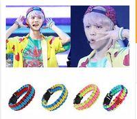 Wholesale 4 styles KPOP EXO Bracelet EXO K EXO M Overdose Logo Bracelets Chen Kris Luhan Sehun Wristband frozenc469